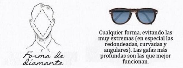 gafas de sol hombre cara rombo