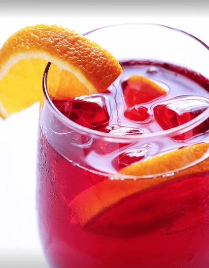 agua jamaica naranja