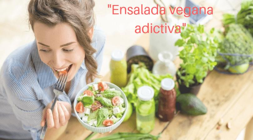 ensalada de col vegana adictiva