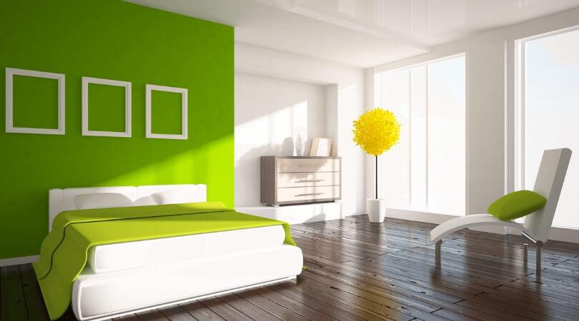 verde pistacho dormitorio